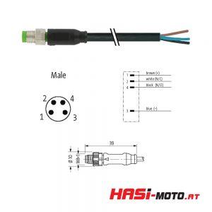 Kabel 4-polig Stecker (M8)